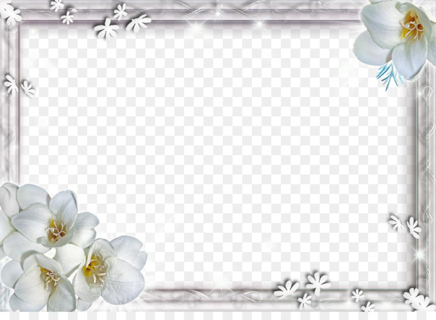 Cicek Duvar Kagidi Beyaz Cicek Cerceve Png Dosyasi Seffaf Png Goruntusu