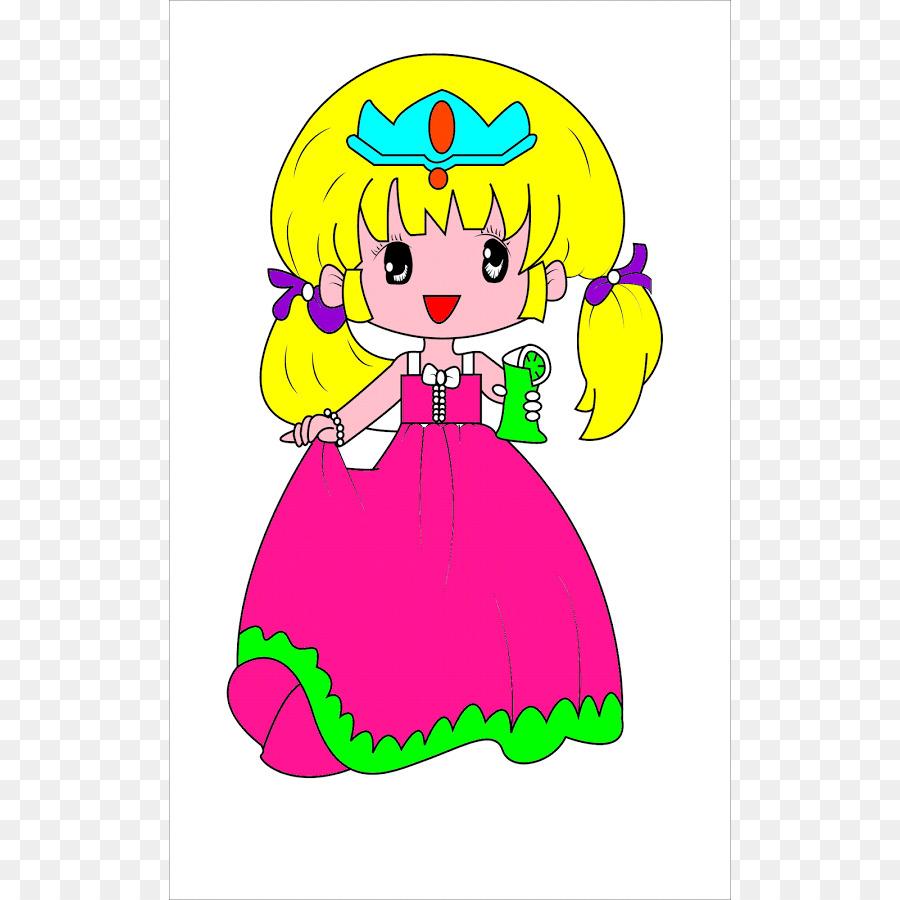 Prenses Boyama Cocuklar Icin Komik Bir Boyama Kitabi Boyama
