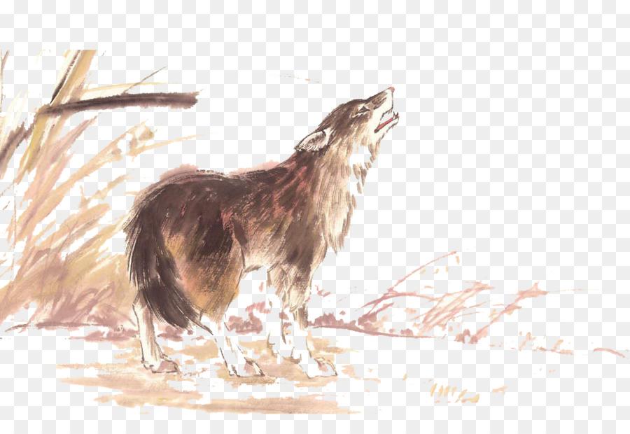Wolfdog Murekkep Boyama Kus Ve Cicek Boyama Yikama Uluyan Kurt