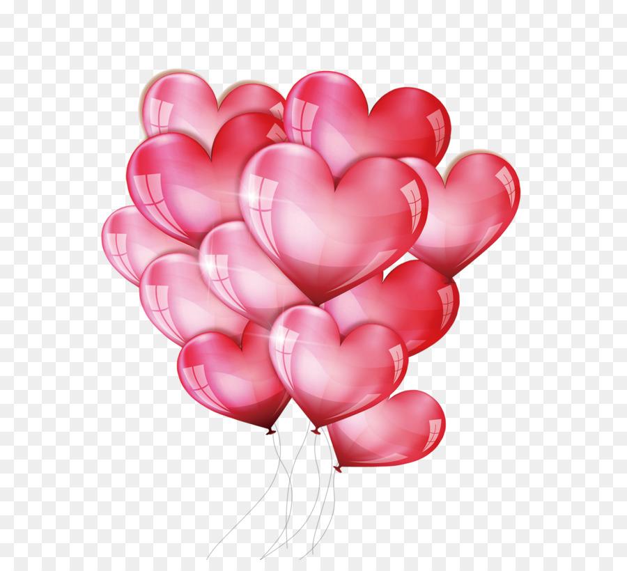 Открытка воздушные шары сердечки