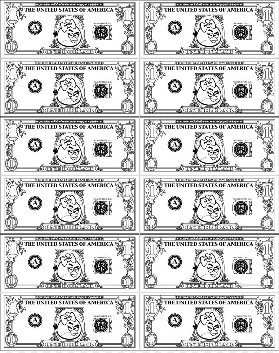 Angry Birds Boyama Sayfalari Money Kizgin Kuslar Uzay Destani