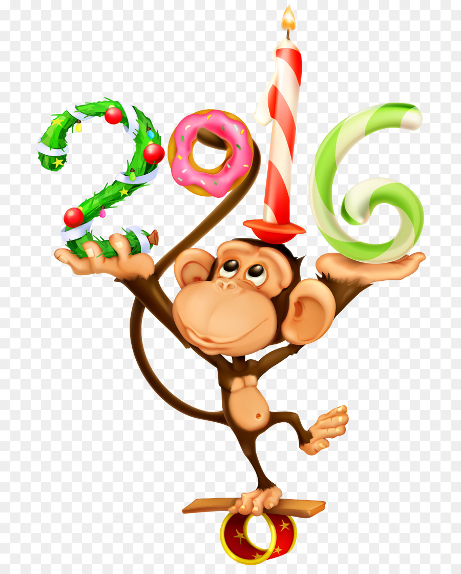 Прикольная обезьяна картинки к новому году, днюхой прикольно