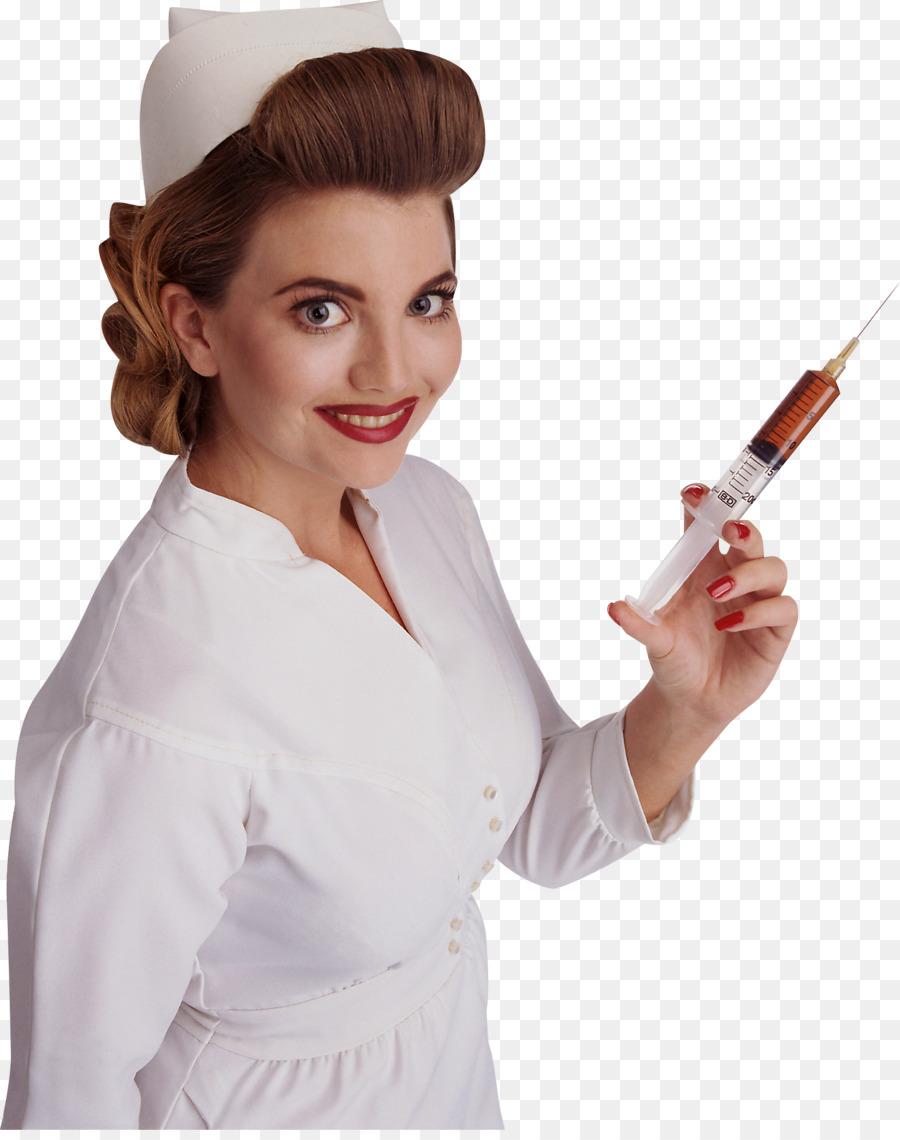 Гифка медсестра со шприцем