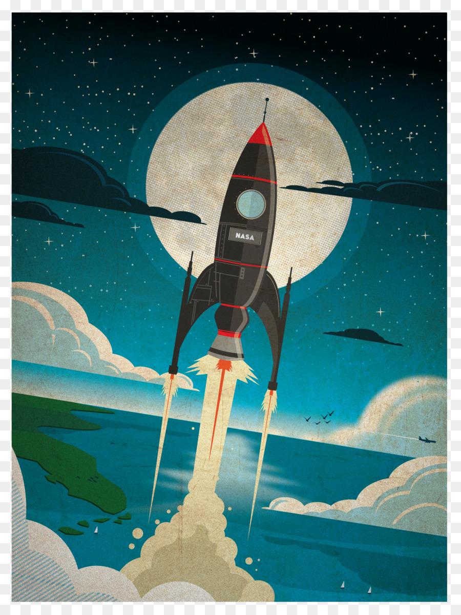 retro astronaut posters - 750×1000
