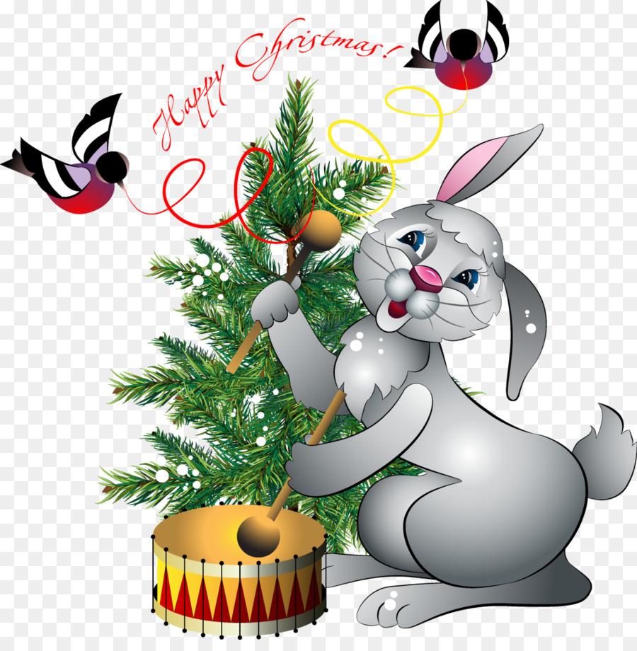 Открытка год кролика