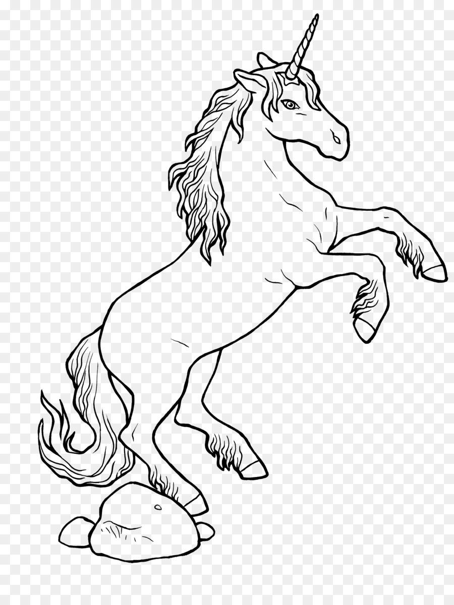 Unicorn Boyama Kitabi At Efsanevi Yaratik Ausmalbild Tek