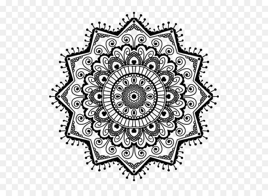 Logo Boyama Kitabı Mandala Desenleri Ile ücretsiz Indir