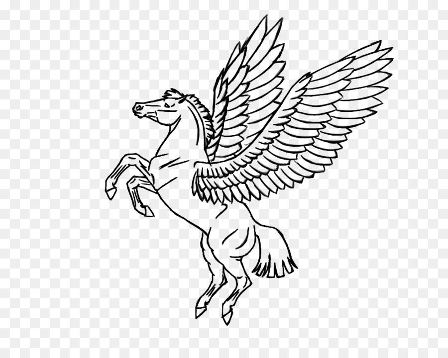 Pegasus Boyama Kitabı Uçan Tek Boynuzlu Atları Pegasus