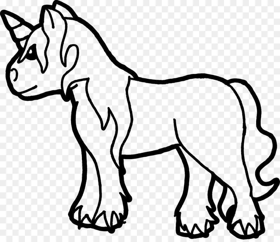 Unicorn Boyama Kitabı Küçük Resim çizimi Tek Boynuzlu At