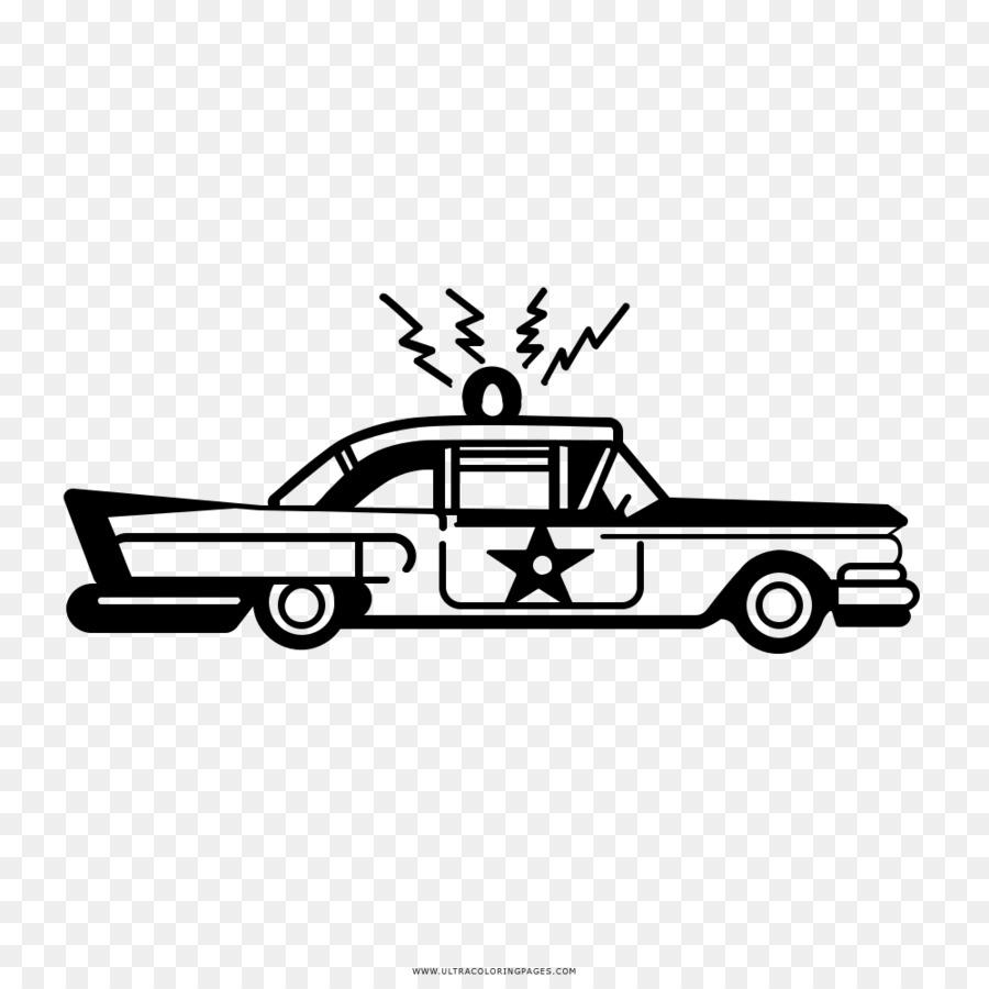 Polis Araba Boyama Kitabi Cizim Araba Seffaf Png Goruntusu