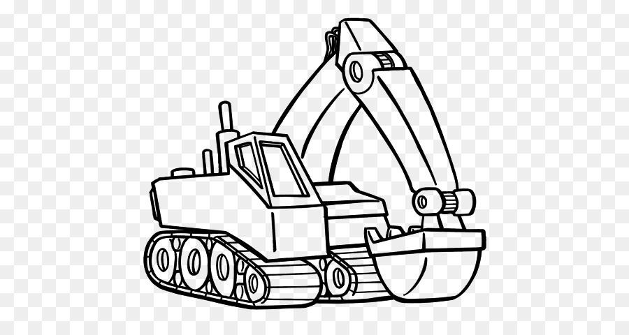 Ekskavatör Traktör Ağır Makine Baustelle Boyama Kazıcı