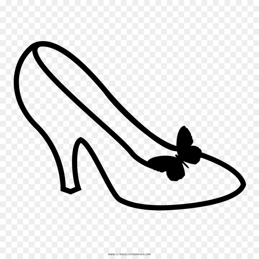 Yuksek Topuklu Ayakkabi Cizim Boyama Kitabi Siyah Beyaz Kristal