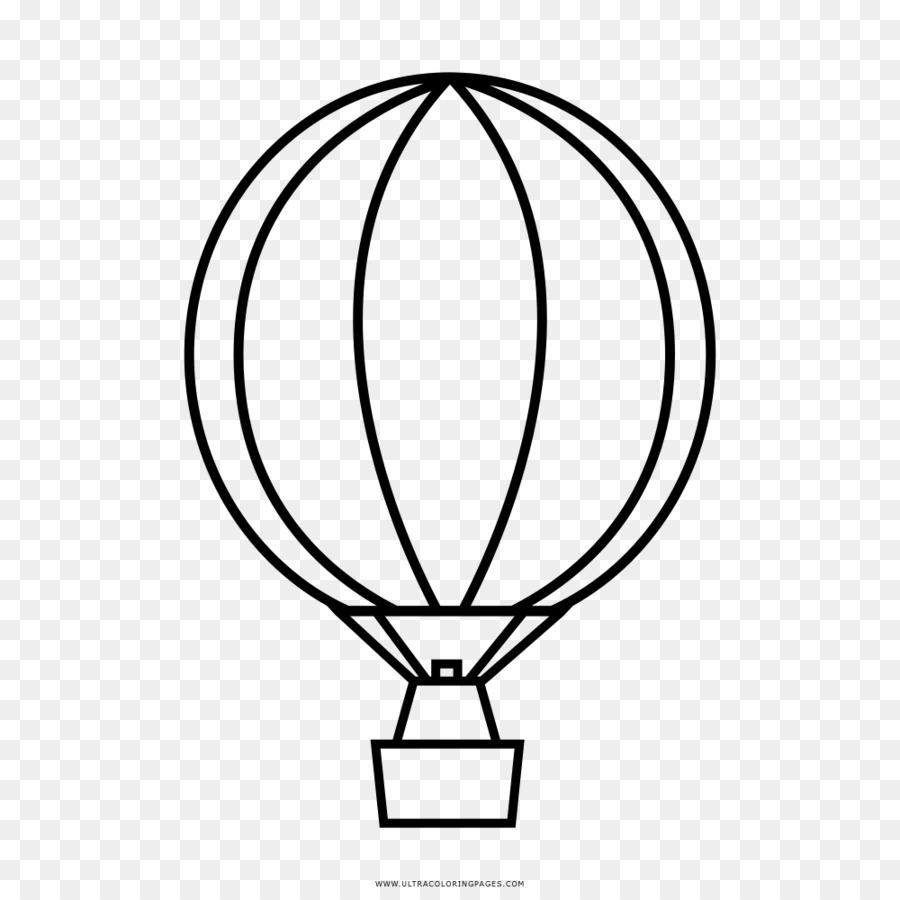 Boyama Kitabi Sicak Hava Balonu Cizimi Balon Seffaf Png Goruntusu