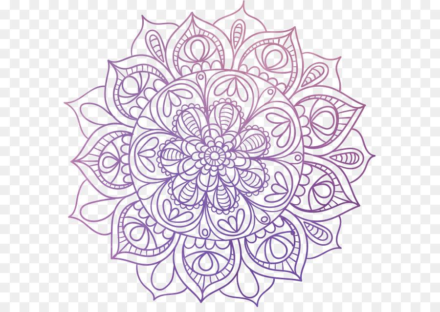 Mandala Boyama Kitabı Meditasyon Masaüstü Duvar Kağıdı
