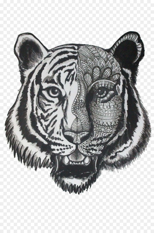 Tiger Boyama Kitabı Doodle Aslan çizim Kaplan şeffaf Png