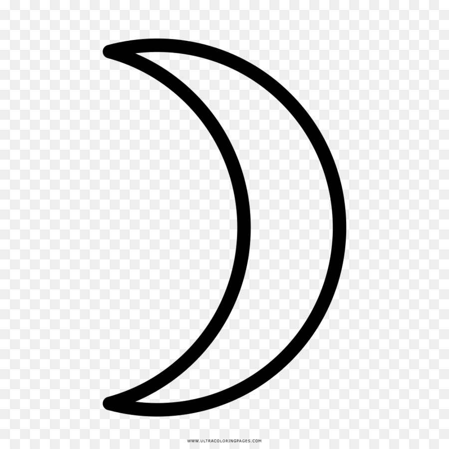 Lua Em Quarto Crescente Hat Sanati Boyama Kitabi Cizim Ay Seffaf