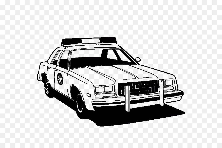 Polis Araba Boyama Kitabi Luks Arac Araba Seffaf Png Goruntusu