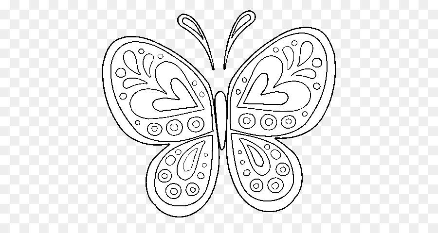 Kelebek Kitap Yetiskin Mandala Boyama Arac Icinde Seffaf Png