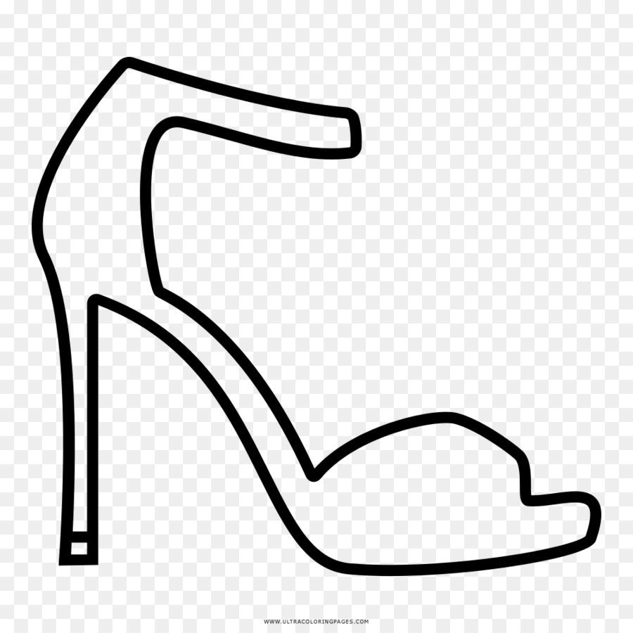 Yuksek Topuklu Ayakkabi Cizim Boyama Kitabi Absatz Siyah Ve Beyaz