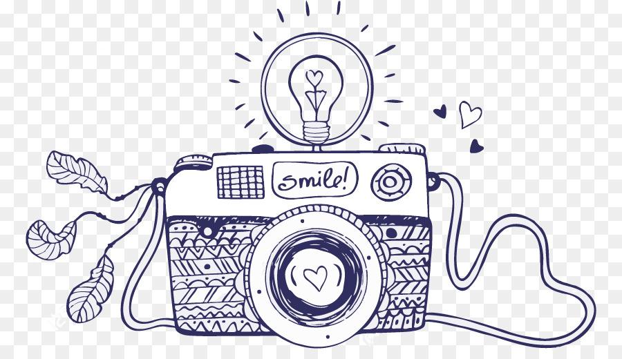 Cizim Fotograf Makinesi Kroki Kamera Seffaf Png Goruntusu