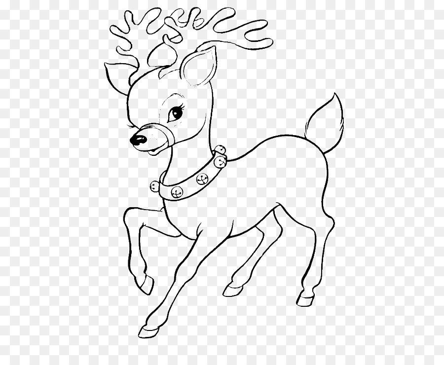 Ren Geyigi Rudolph Boyama Kitabi Noel Baba Noel Boyama Sayfalari