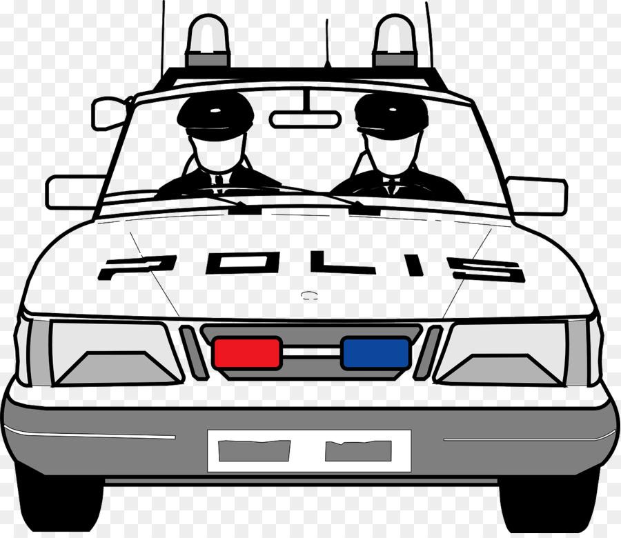 Polis Arabasi Ford Mustang Boyama Kitabi Polis Memuru Araba