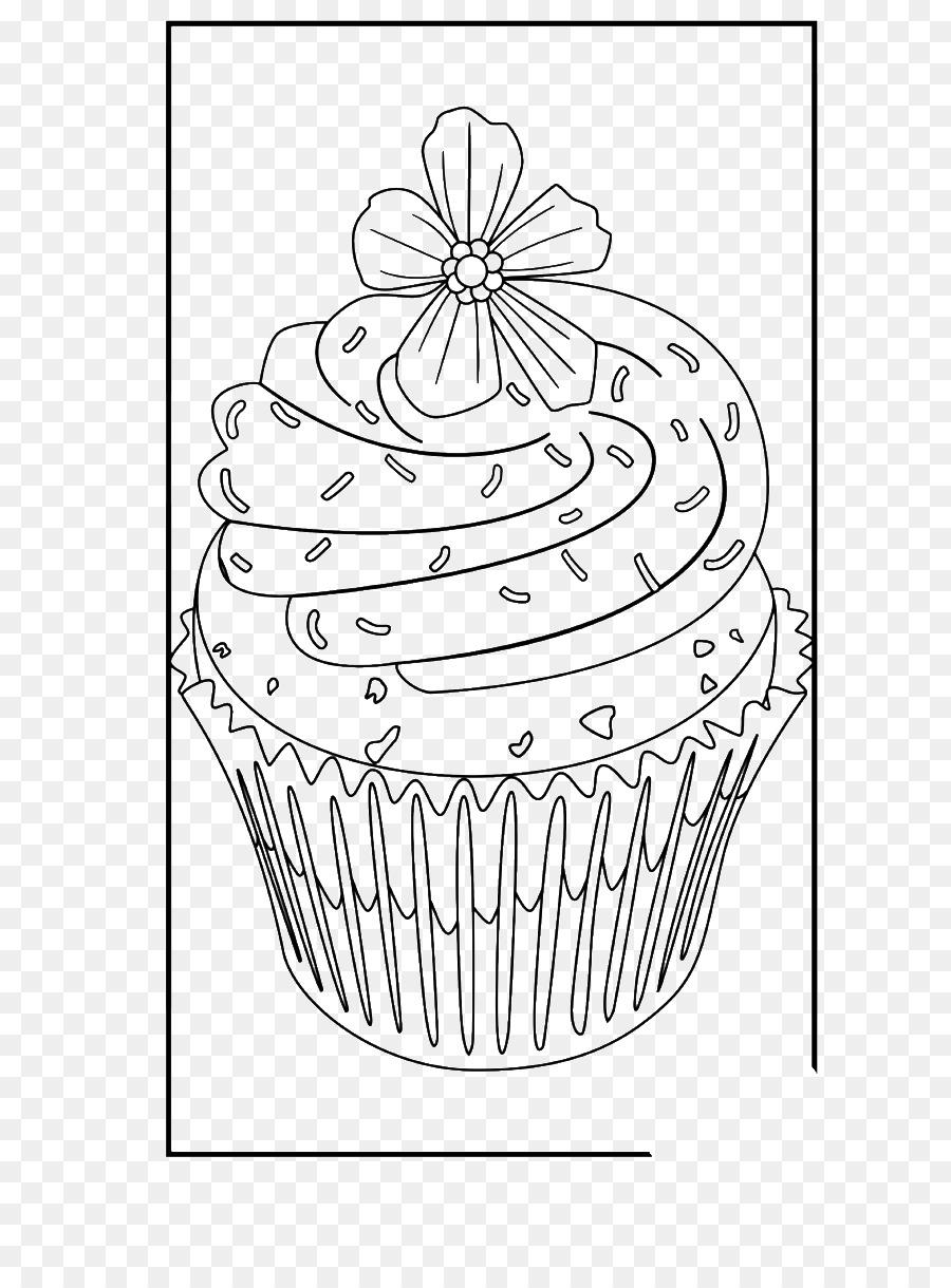 Cupcake Boyama Kitabi Sayfalari Firin Boyama Pasta Seffaf Png