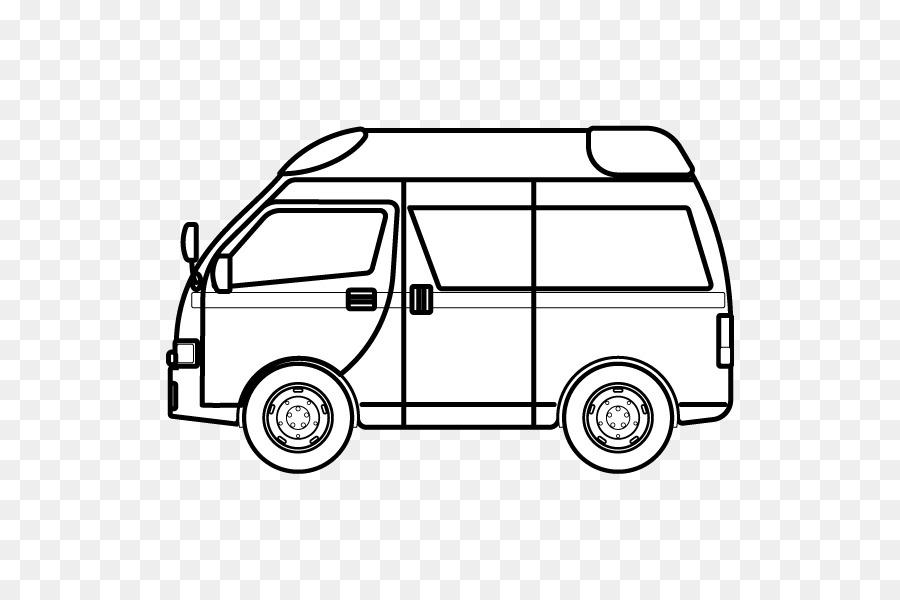 Siyah Ve Beyaz Boyama Kitabi Illustrasyon Ambulans Araba