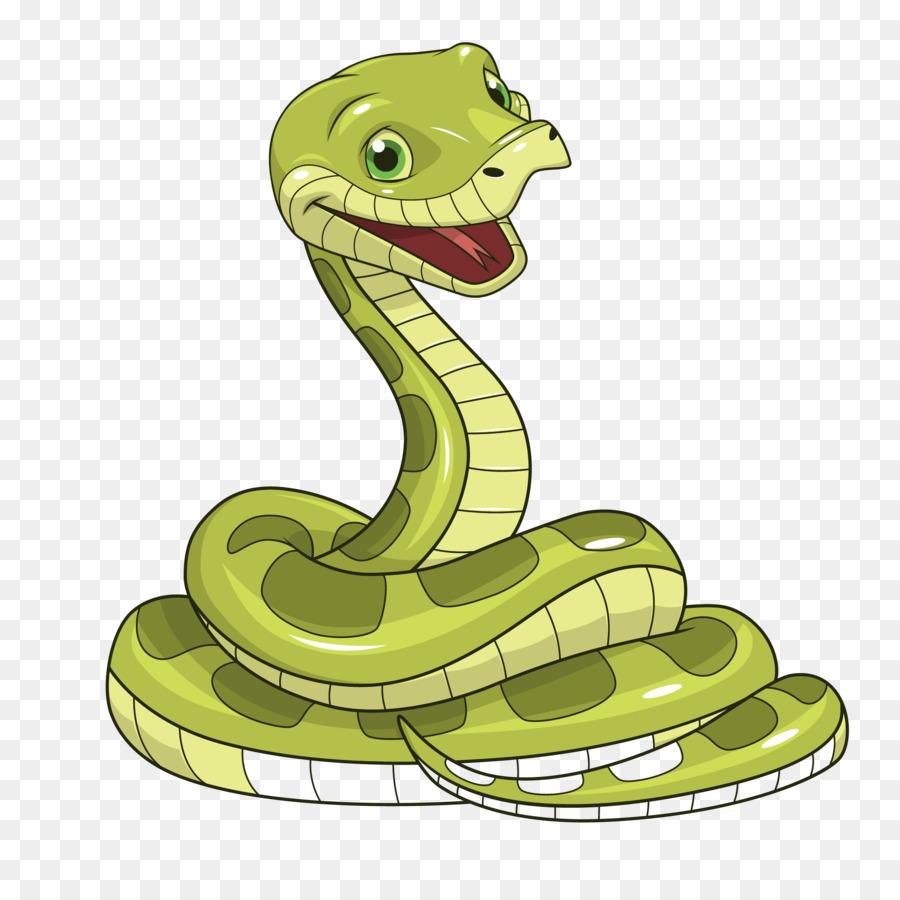 Анимационная, рисунок прикольной змеи